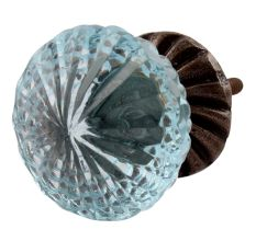 Fine cut glass knobs