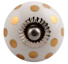 Ceramic dotted knob