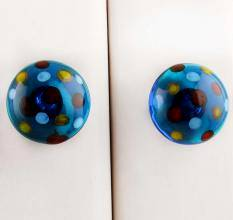 Glass Dotted knob