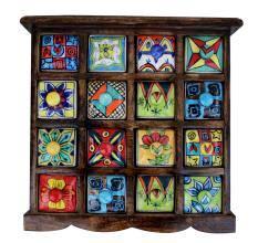 Sixteen Drawers Spice Box