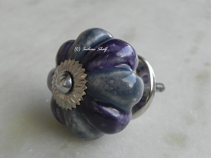Bluish Purple Melon Knob