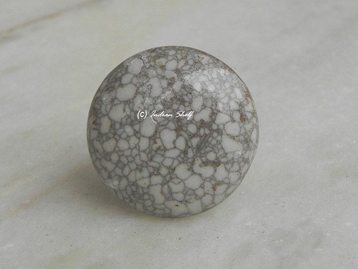 Brown Flat Marble Knob
