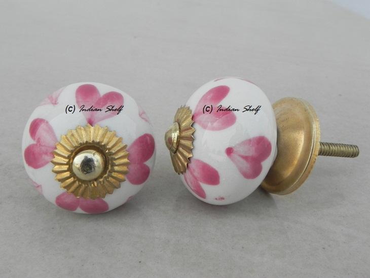 Pink Heart Knob