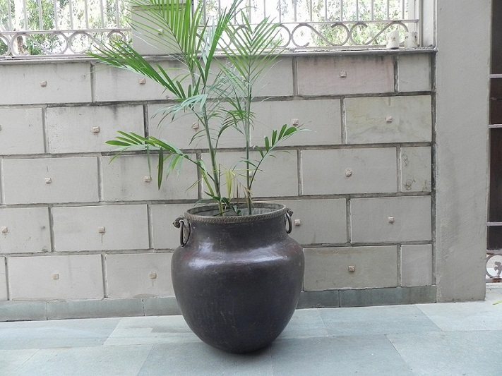 Vintage Bronze Planter -25.5 X 25 Inches