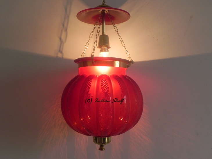 Red Melon Lamp