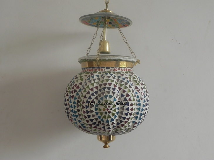 Mosaic Melon Lamp