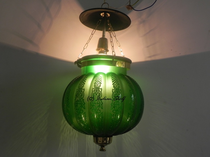 Green Melon Lamp