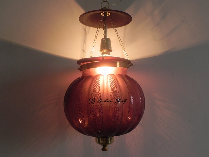 Dark Purple Melon Lamp