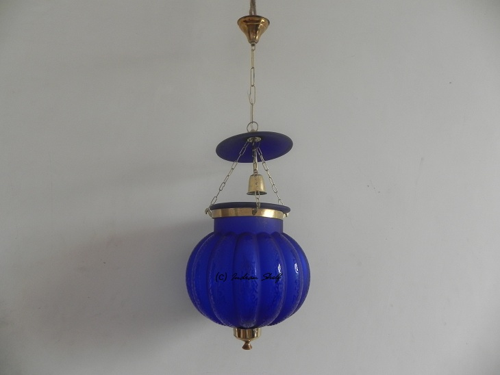 Navy Blue Melon Lamp