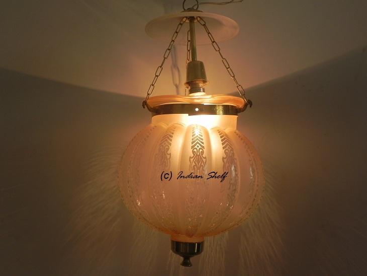 Light Pink Melon Lamp
