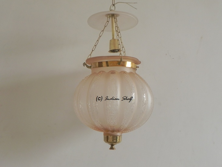 Light Pink Melon Lamp