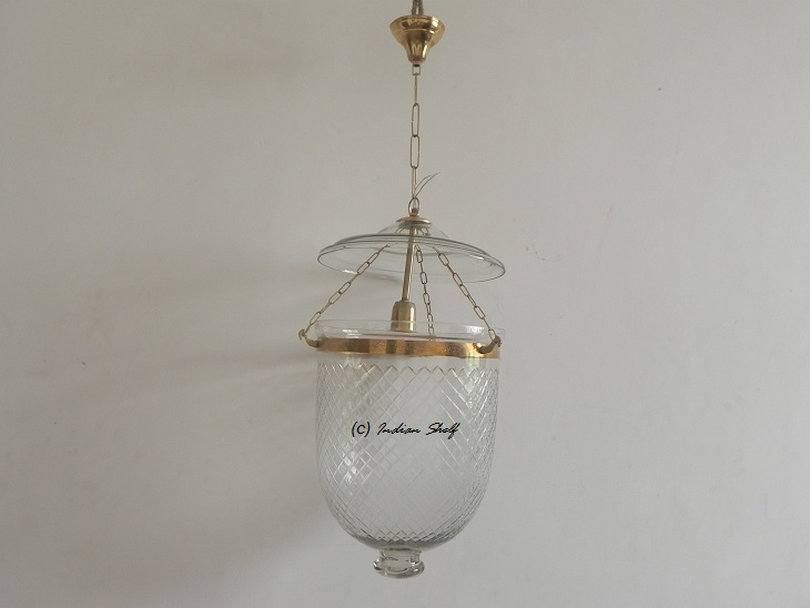 Clear Cut Glass Lamp