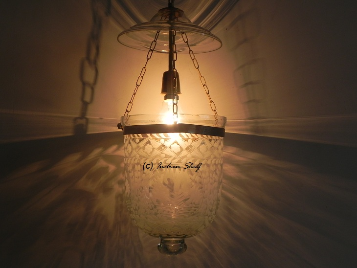 Clear Flower Small Lamp