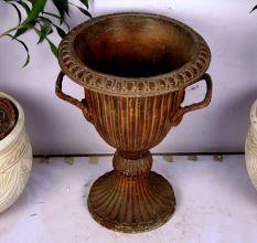 Zinc Flower Pot-18.1 X 15.35 Inches