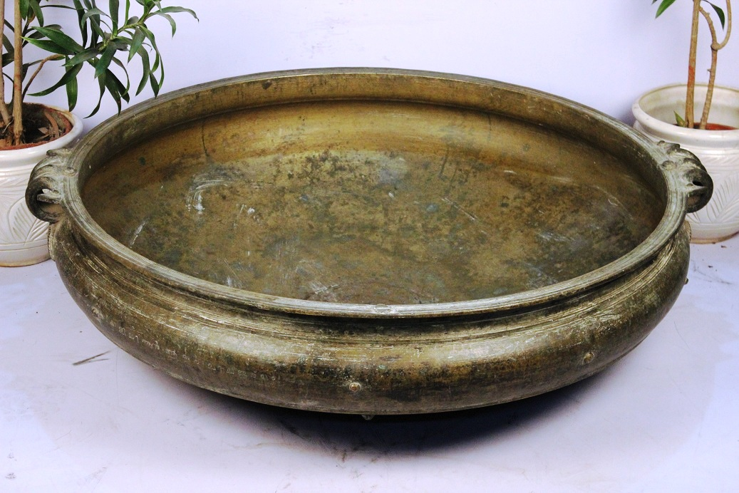 Bronze Urli-45.5 Inches