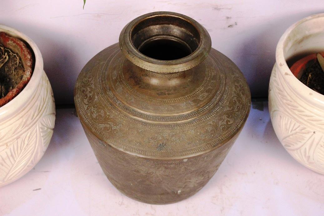 Bronze Planter-14.5 X 12.5 Inches