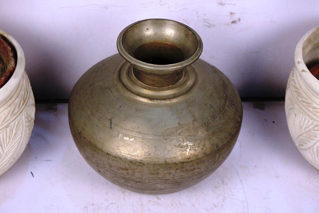 Bronze Planter-13 X 15.5 Inches