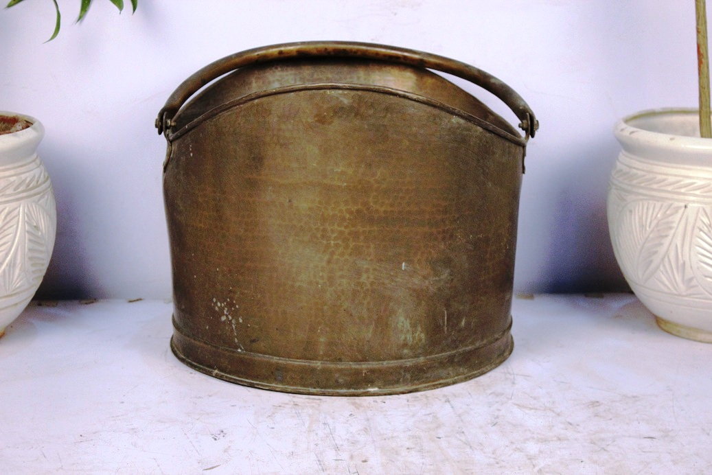 Bronze Bucket Big-12.5 X 16.5 Inches