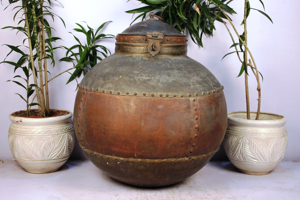 Copper Bronze Planter-25.5 X 25.5 Inches