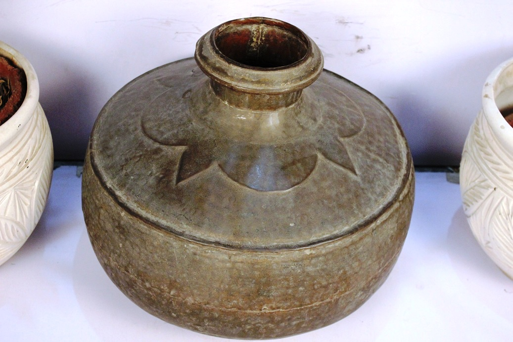 Bronze Planter-14 X 15.5 Inches