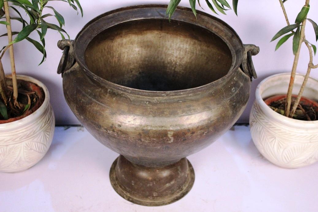 Bronze Planter-21.5 X 22 Inches