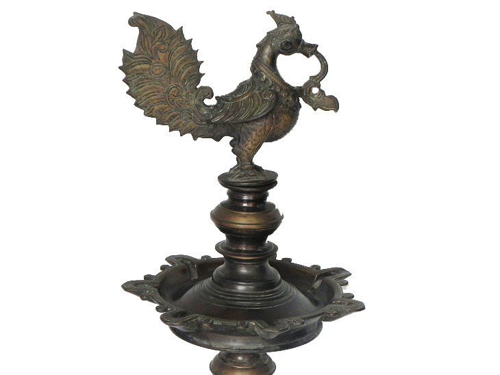 Vintage Oil Lamp-12 (Ht-31 Inches)
