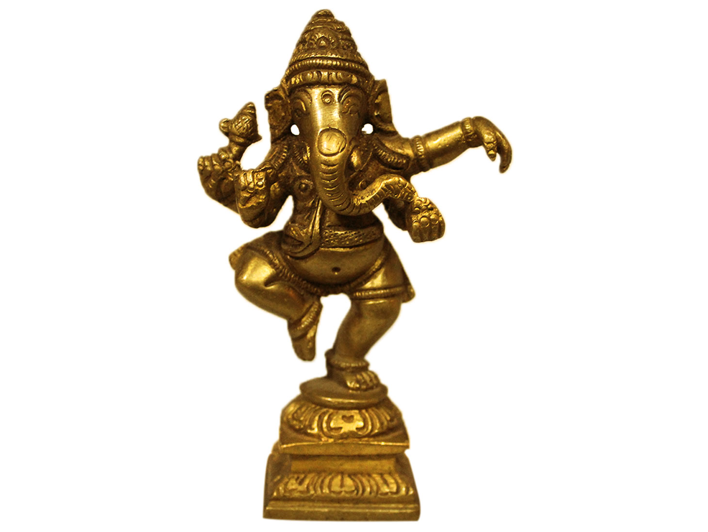 Brass Ganesha (Ht-4.25 Inches)