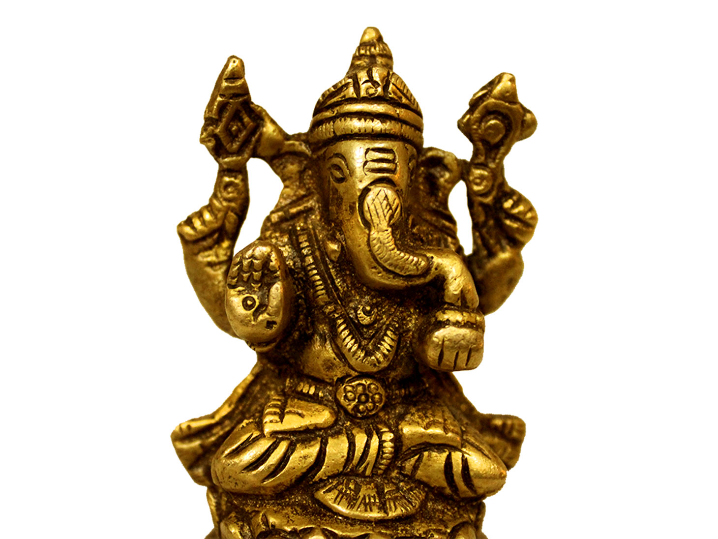 Brass Ganesha (Ht-2.7 Inches)
