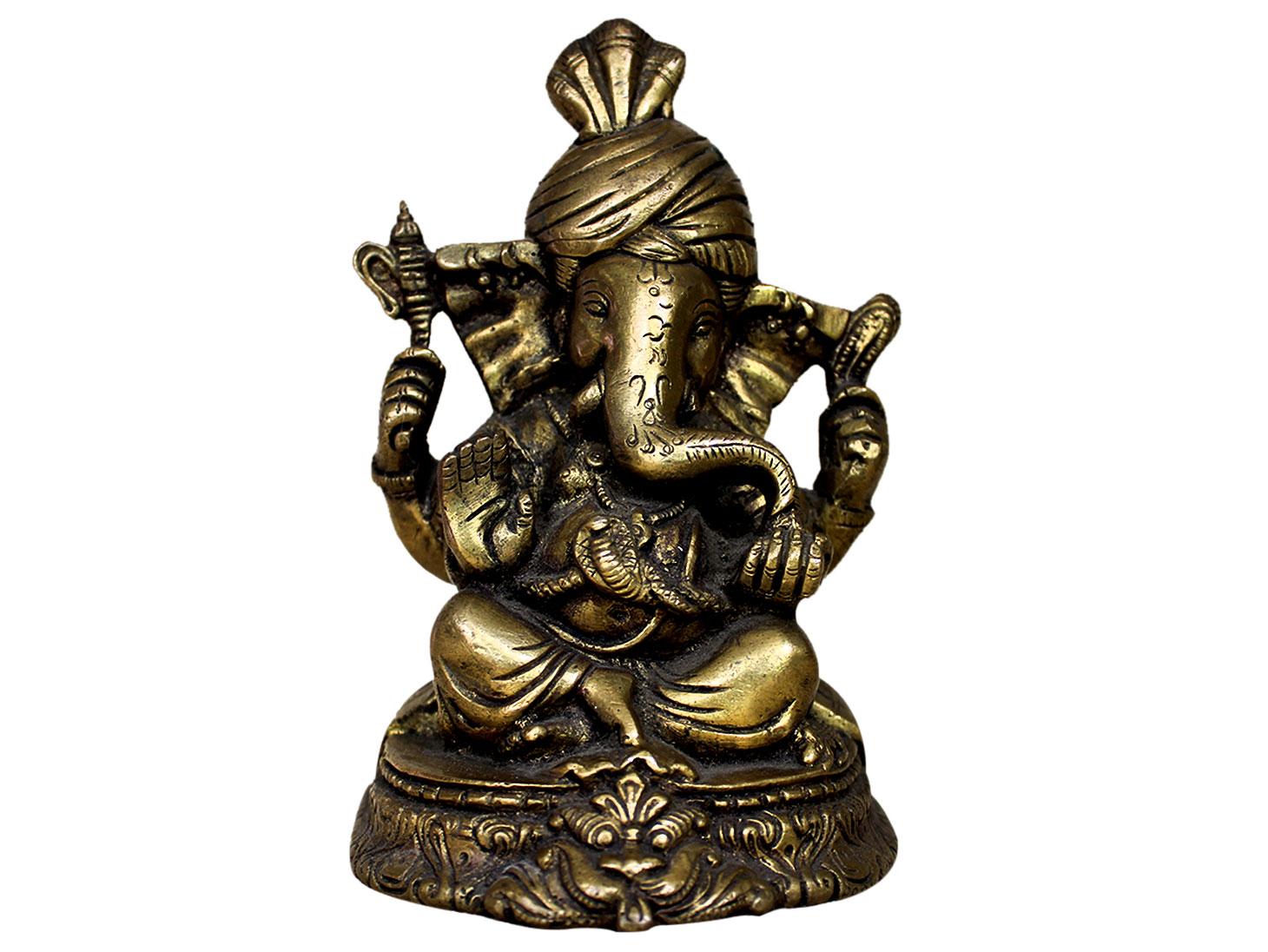Brass Ganesha (Ht-6 Inches)