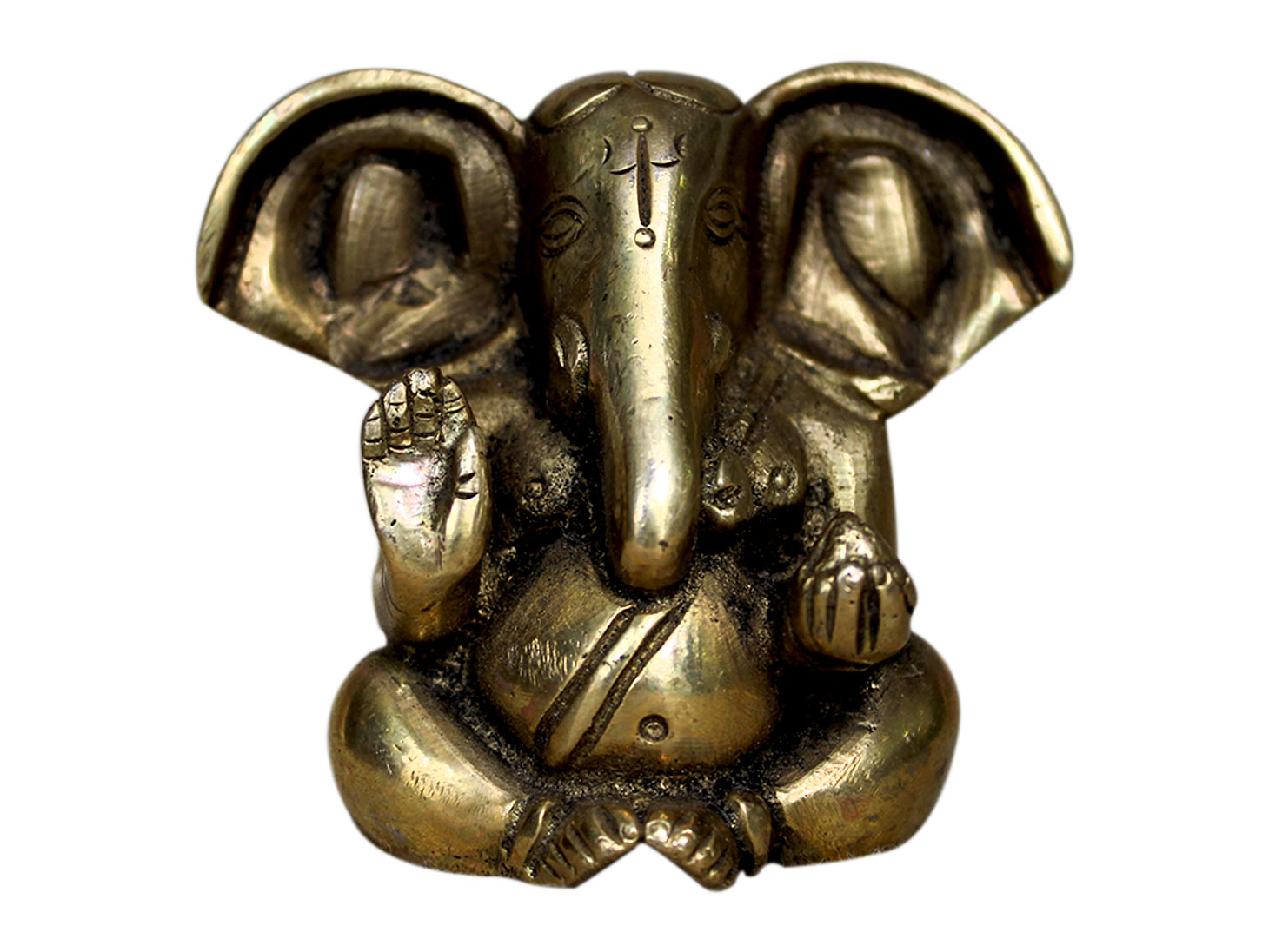 Brass Ganesha (Ht-2.3 Inches)
