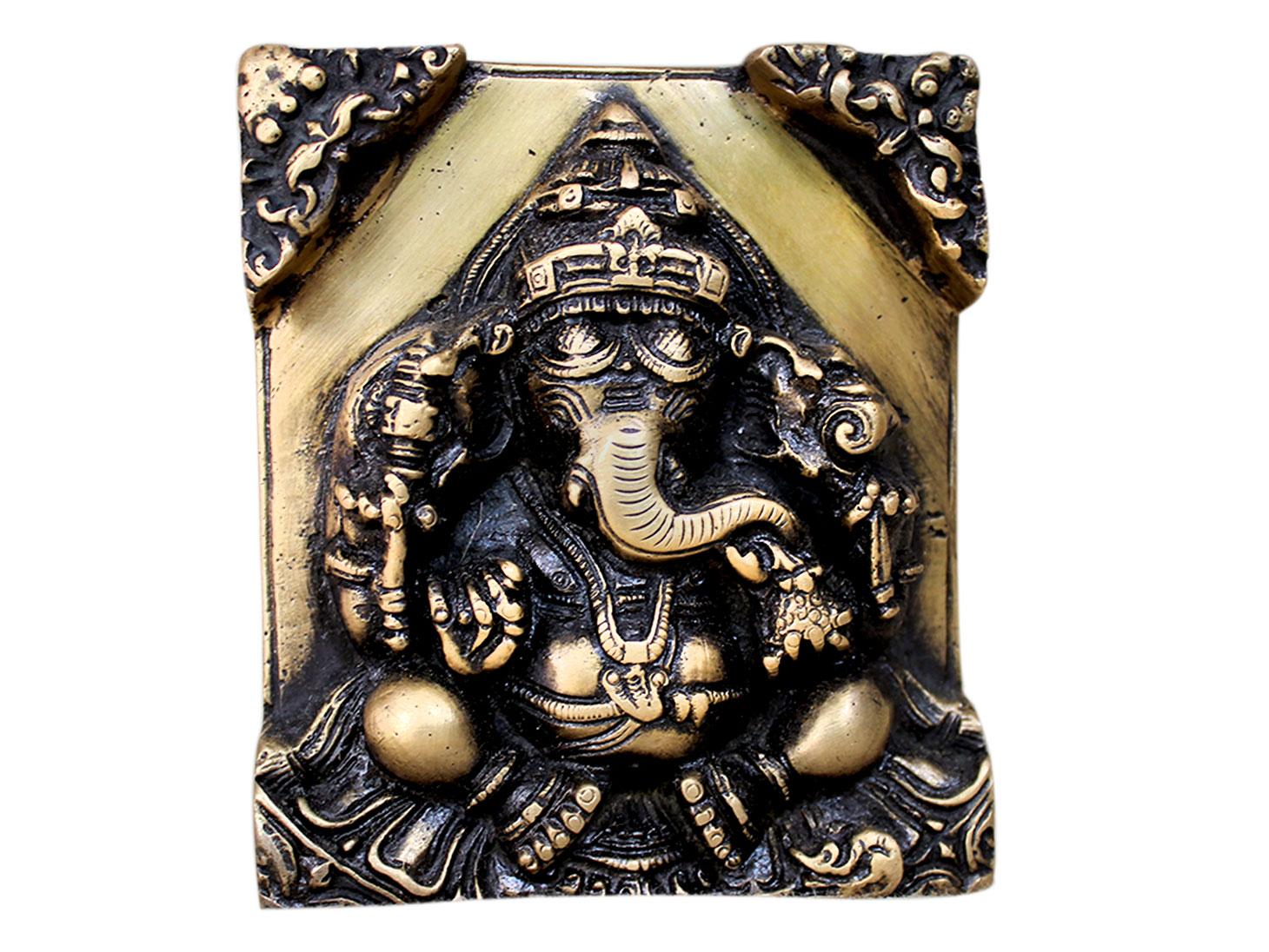 Brass Ganesha (Ht-3.75 Inches)