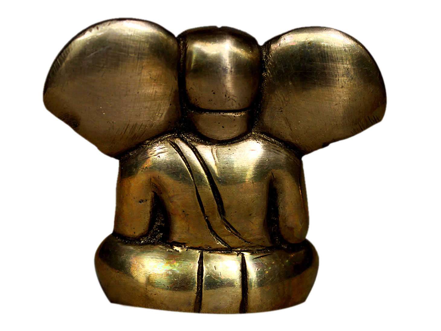 Brass Ganesha (Ht-1.75 Inches)