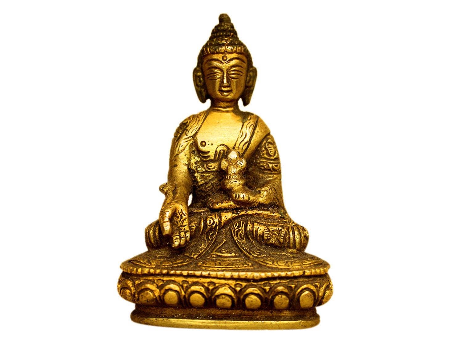 Brass Buddha (Ht-4 Inches)