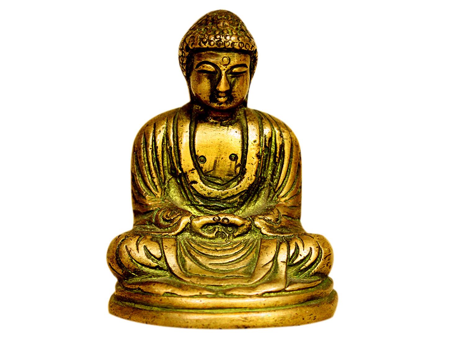 Brass Buddha (Ht-3 Inches)