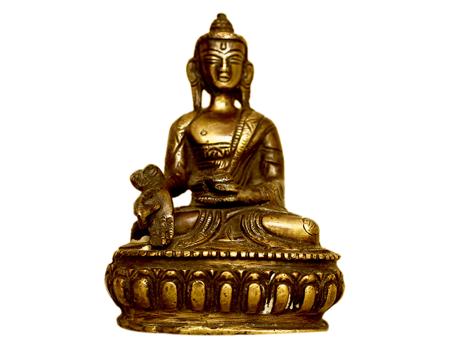 Brass Buddha (Ht-4.5 Inches)