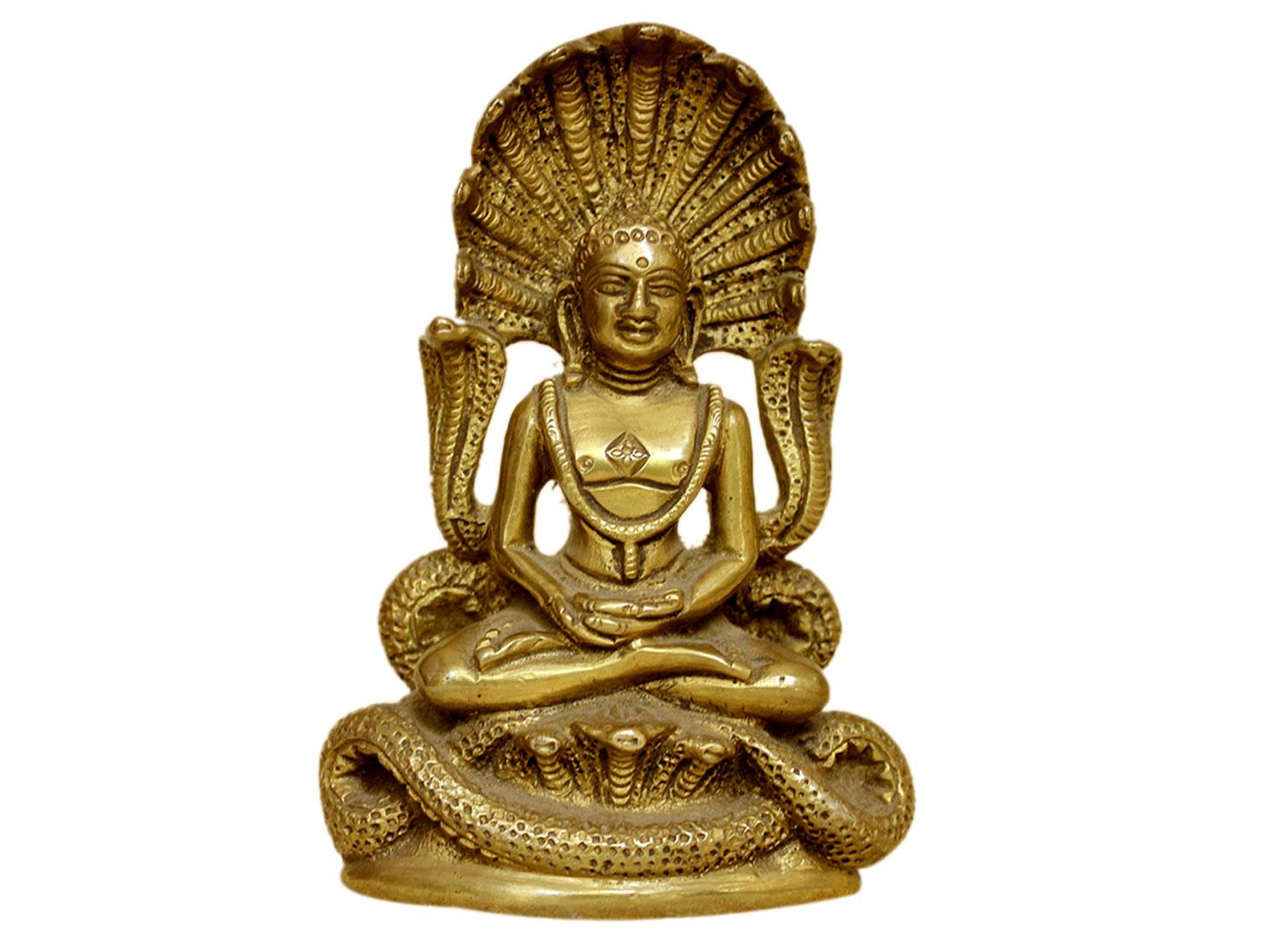 Brass Mahavir Ji (Ht-4.75 Inches)
