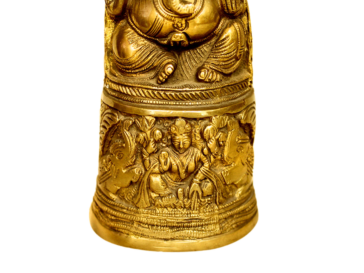Brass Ganesha (Ht-10.5 Inches)