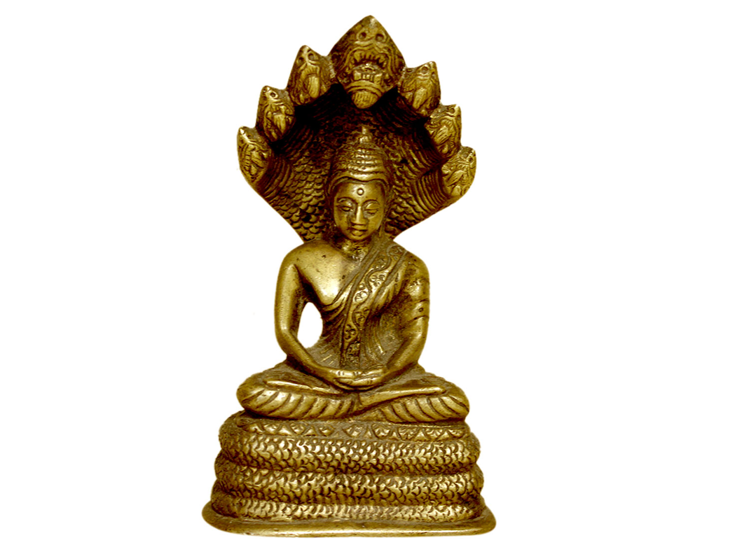 Brass Buddha (Ht-5.1 Inches)