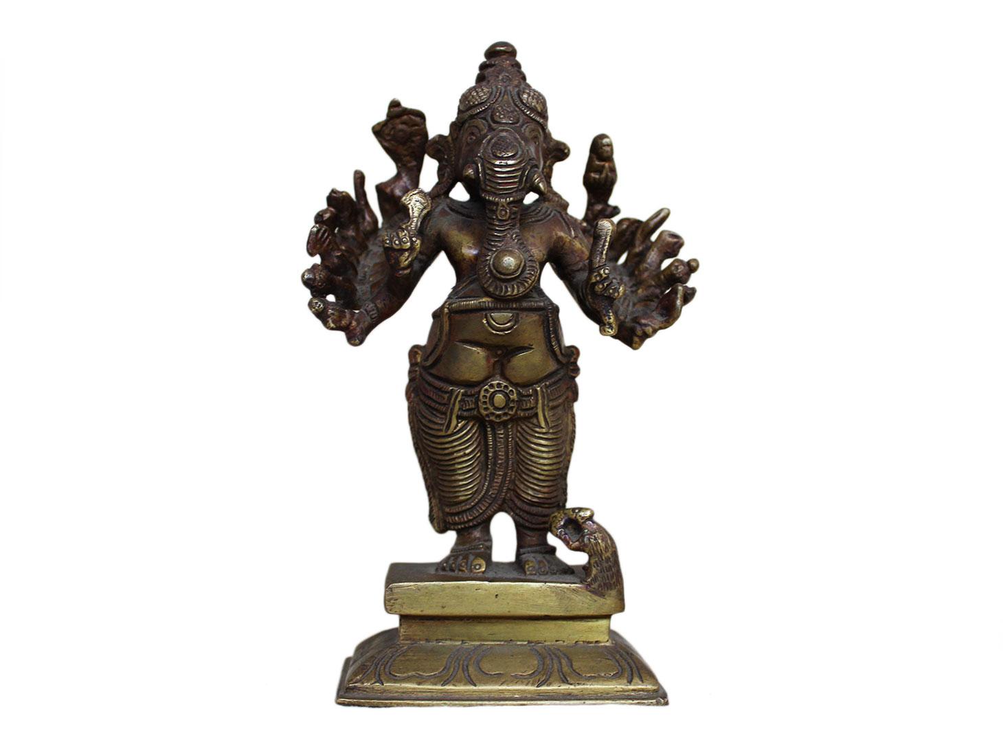 Brass Ganesha (Ht-6.3 Inches)