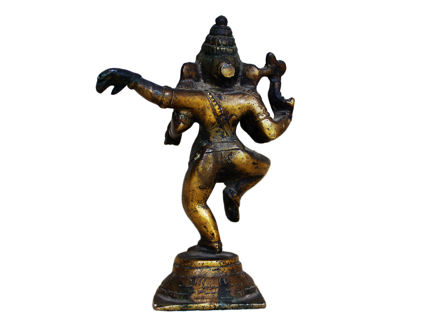 Brass Ganesha (Ht-5.9 Inches)