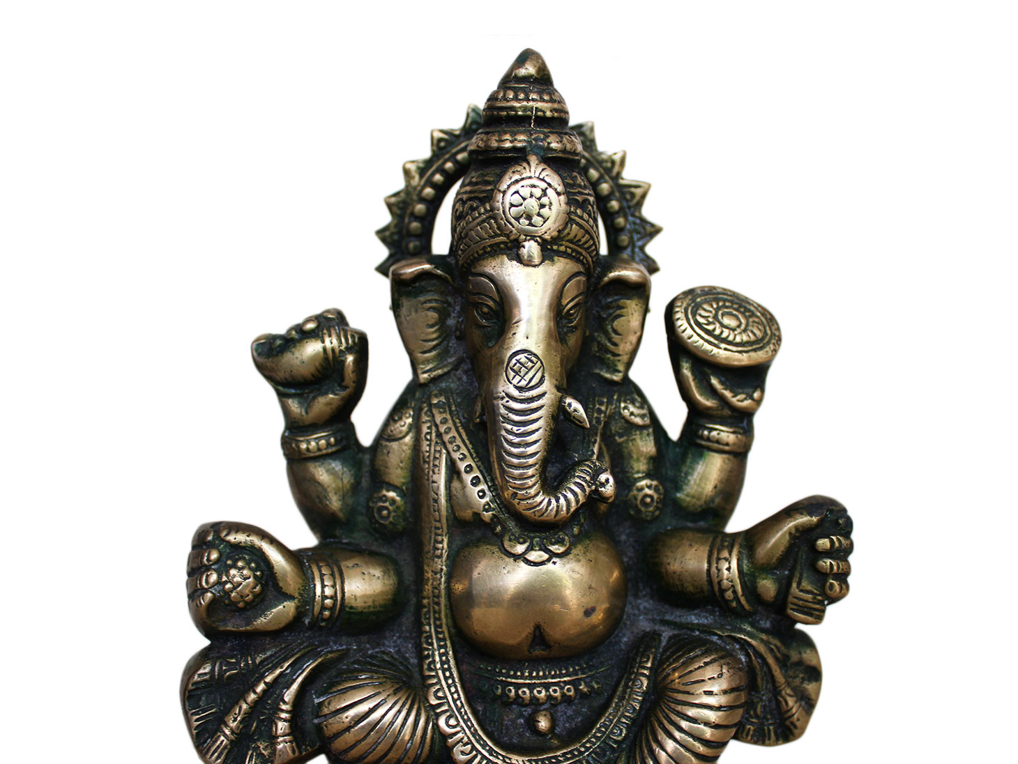 Brass Ganesha (Ht-7.5 Inches)
