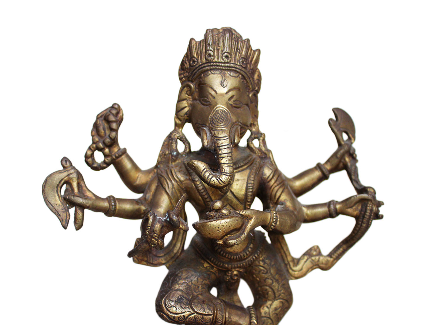 Brass Ganesha (Ht-11.8 Inches)