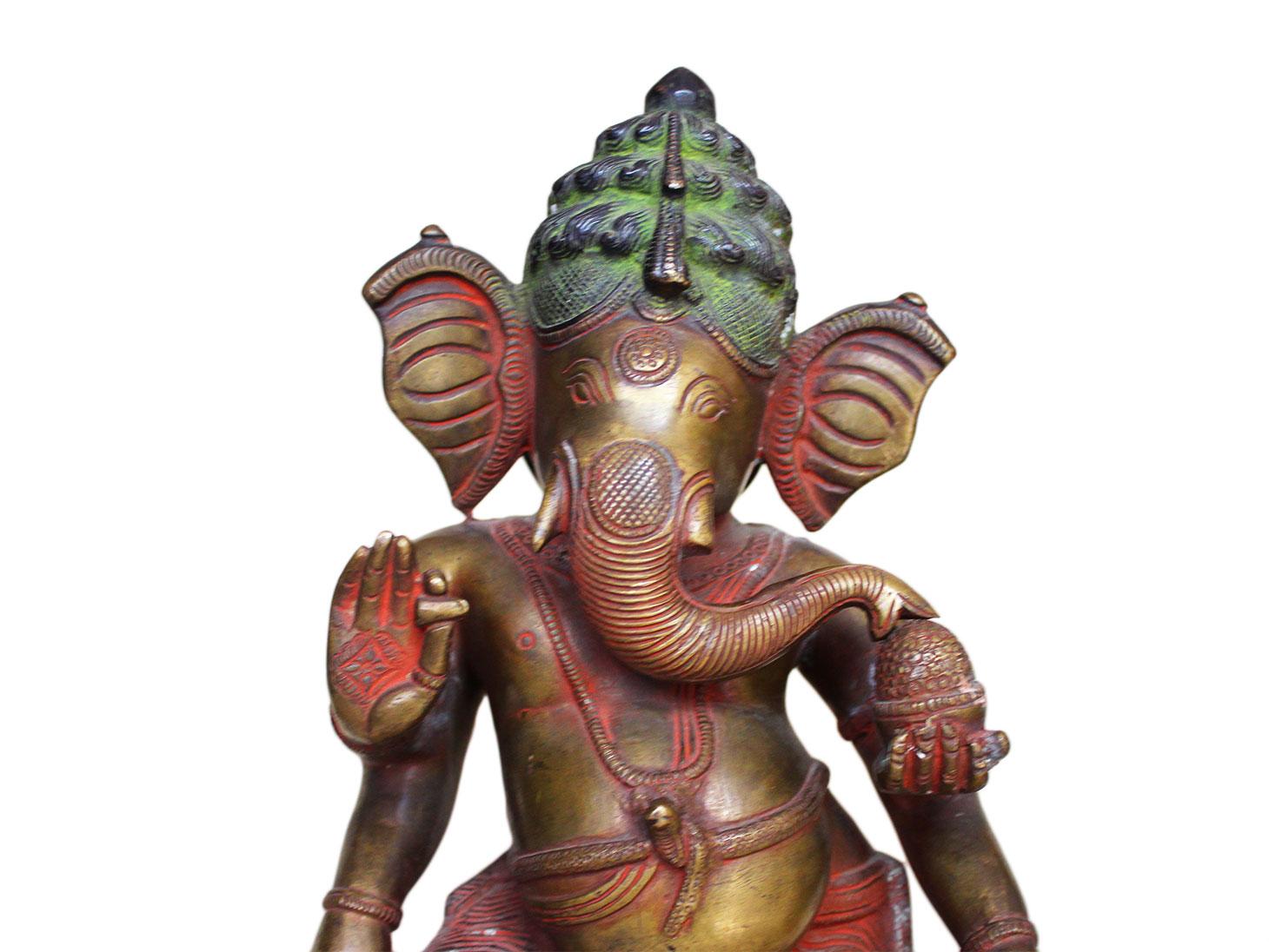 Brass Ganesha (Ht-12.2 Inches)