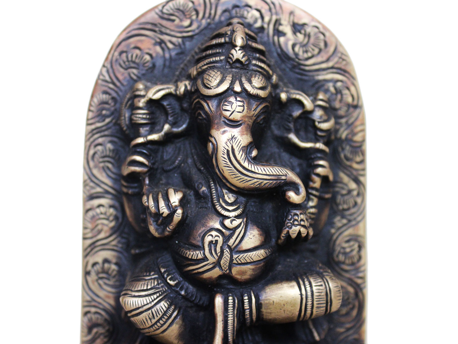 Brass Ganesha (Ht-4.9 Inches)