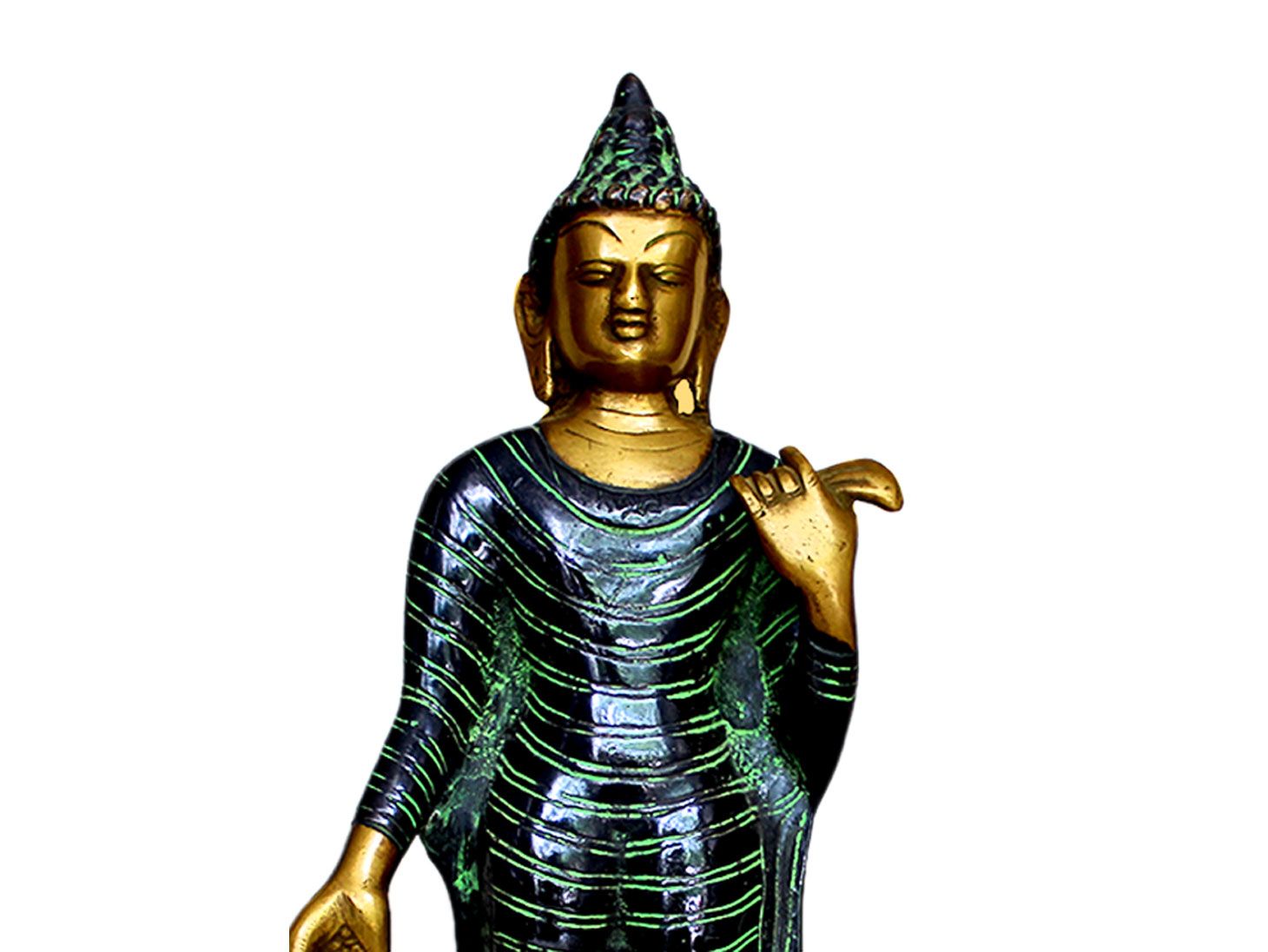 Brass Buddha (Ht-12.2 Inches)
