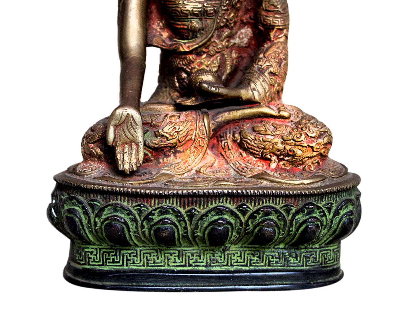 Brass Buddha (Ht-10.2 Inches)