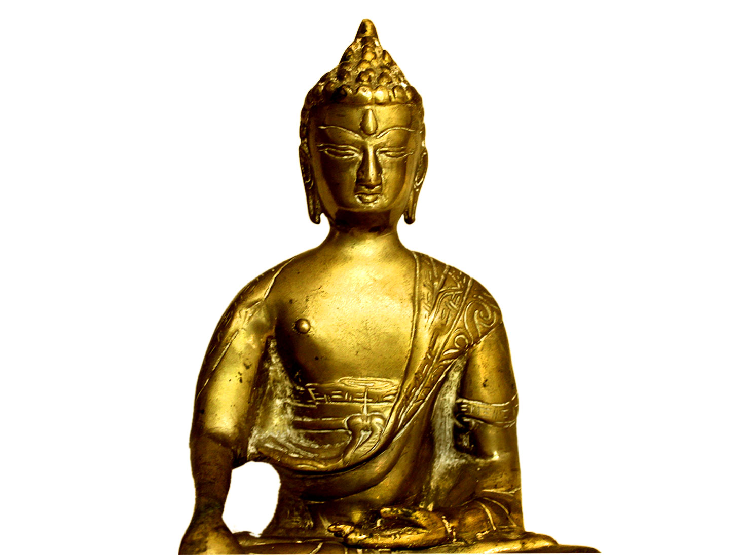 Brass Buddha (Ht-9 Inches)