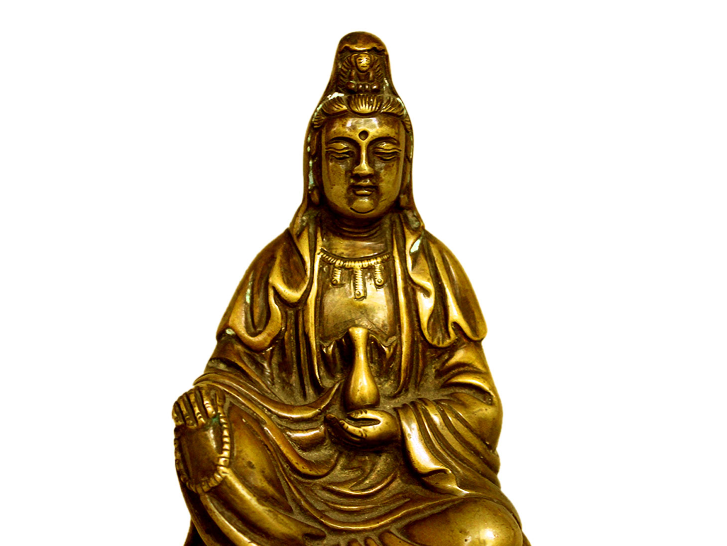 Brass Buddha (Ht-6.2 Inches)