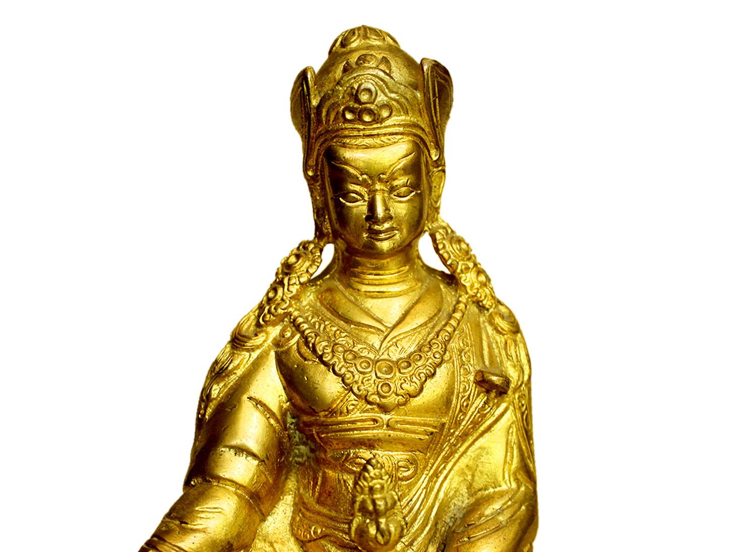 Brass Prince Buddha (Ht-7.3 Inches)