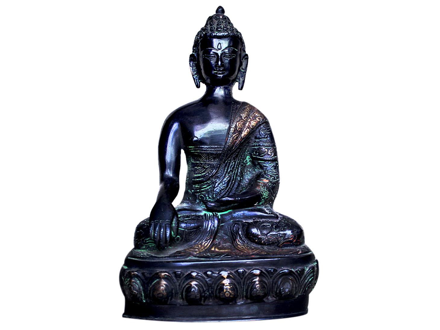 Brass Buddha (Ht-9.85 Inches)